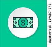 vector flat icon dollar cash.... | Shutterstock .eps vector #1196874376