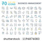 set of line icons of business... | Shutterstock . vector #1196876083