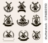 mill label and icons set. vector | Shutterstock .eps vector #1196883550