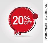 20  off discount sticker. sale... | Shutterstock .eps vector #1196883739