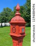 historic fire post outside...   Shutterstock . vector #1196884096