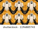halloween seamless pattern.... | Shutterstock . vector #1196885743