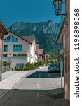 Vaduz, Liechtenstein, 16th August 2018:- A residential street in Vaduz the Capital of liechtenstein the 4th smallest country in Europe - stock photo