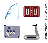 set of 4 simple vector icons... | Shutterstock .eps vector #1196899126