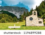 Malbun, Liechtenstein, 20th August 2018:- A church in Mlabun the only ski resort in Liechtenstein - stock photo
