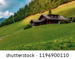 Malbun, Liechtenstein, 20th August:- Buildings in Malbun, Liechtenstein's only ski resort in the summer - stock photo