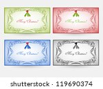 holiday cards in four color...