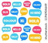 hola  hello  hi  guten tag  ni... | Shutterstock .eps vector #1196904649