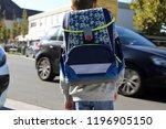 schoolchild on the way | Shutterstock . vector #1196905150