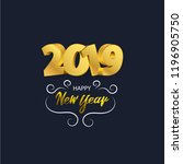 happy new year 2019 background. ... | Shutterstock .eps vector #1196905750