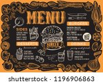 burger menu template for... | Shutterstock .eps vector #1196906863