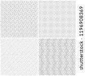 set of abstract seamless... | Shutterstock .eps vector #1196908369
