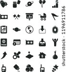 solid black flat icon set wind... | Shutterstock .eps vector #1196911786