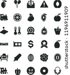 solid black flat icon set... | Shutterstock .eps vector #1196911909