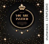 vip invitation template with... | Shutterstock .eps vector #1196913043