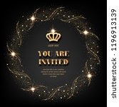 vip invitation template with... | Shutterstock .eps vector #1196913139
