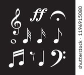 music symbols  notes  g clef ... | Shutterstock .eps vector #1196915080