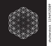 flower of life  vector... | Shutterstock .eps vector #1196915089