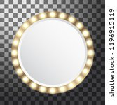 circle mirror with light bulbs  ...   Shutterstock .eps vector #1196915119