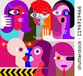 people in love vector... | Shutterstock .eps vector #1196919466