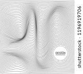 distorted wave monochrome... | Shutterstock .eps vector #1196919706
