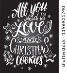 christmas quote. the hand...   Shutterstock .eps vector #1196921740