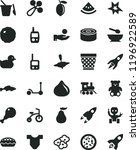 solid black flat icon set... | Shutterstock .eps vector #1196922589