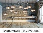 modern interior decoration... | Shutterstock . vector #1196923003