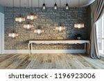 modern interior decoration... | Shutterstock . vector #1196923006