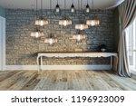 modern interior decoration... | Shutterstock . vector #1196923009