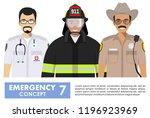 emergency concept. detailed...   Shutterstock .eps vector #1196923969