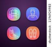 trauma treatment app icons set. ... | Shutterstock .eps vector #1196924983