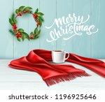 vector merry christmas... | Shutterstock .eps vector #1196925646