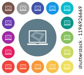 screen saver on laptop flat... | Shutterstock .eps vector #1196926669