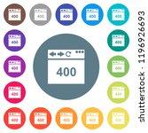 browser 400 bad request flat... | Shutterstock .eps vector #1196926693