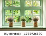 Green Cottage Window  With...