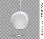 transparent christmas ball...   Shutterstock .eps vector #1196930566