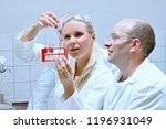 young scientists working in the ... | Shutterstock . vector #1196931049