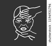 cosmetologist examination chalk ... | Shutterstock .eps vector #1196931796