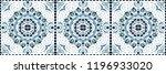talavera pattern.  azulejos... | Shutterstock .eps vector #1196933020