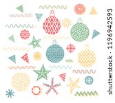 vector christmas decorations.... | Shutterstock .eps vector #1196942593