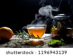 Hot Tea In Glass Cup With Steam ...