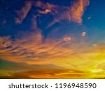 twilight sky background with... | Shutterstock . vector #1196948590