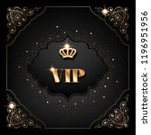 vip invitation template with... | Shutterstock .eps vector #1196951956