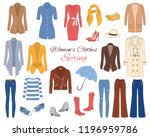 female fashion set. women's... | Shutterstock .eps vector #1196959786