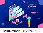 chat  best community customer... | Shutterstock .eps vector #1196963713