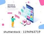 chat  best community customer... | Shutterstock .eps vector #1196963719