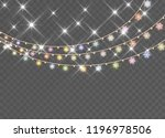 christmas snowflakes isolated... | Shutterstock .eps vector #1196978506
