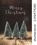 merry christmas with xmas tree... | Shutterstock . vector #1196979280