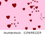 heart icon on red paper texture ...   Shutterstock . vector #1196981329